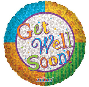 "18"" Get Well Color Prismatic Helium Foil Balloon 1ct #17949"
