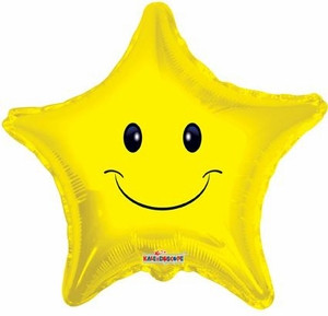 "19"" Smile Star Balloon 1ct #17447"