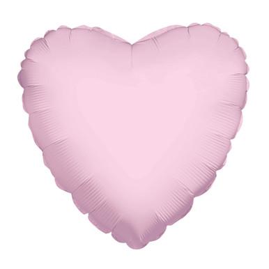 pink foil heart balloon