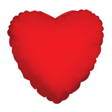 big red heart balloons