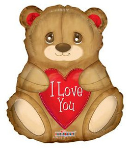 "18"" I LOVE YOU BEAR Shape Balloon 1ct"