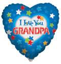 "18"" I Love Grandpa Balloon 1ct #88009"