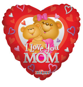 "18"" I Love You Mom Bear Balloon 1ct"