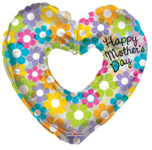 "36"" Mother's Day Groovy Heart Shape Balloon 1ct 84171-36"