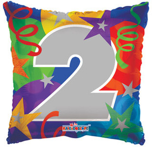 "18"" Party #2 Square Balloon 1ct"