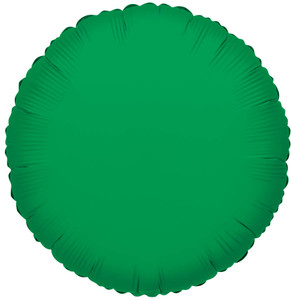 "18"" Green Circle Foil Helium Balloon 1ct #34052"