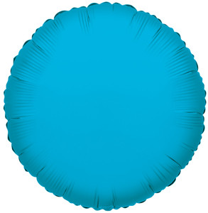 "18"" Turquoise Circle Foil Balloon 1ct #17906"