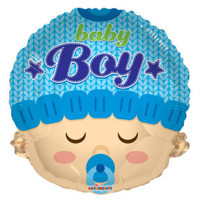 "18"" Baby Boy Head Shape 1ct"