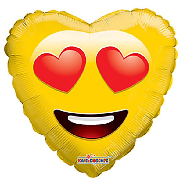 "18"" Emoji Balloon Smiley In Love Balloon 1ct"