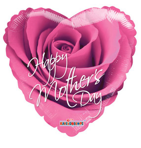 """18"""" Happy Mother's Day Printed 1-side  Pink Rose 1ct #20250"""