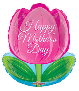 "18"" Happy Mother's Day Tulip Balloon 1 ct #84211"