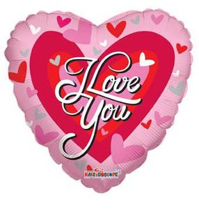 "18"" I Love You Big Heart 1"