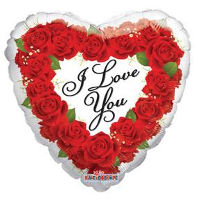"18"" I Love You Script Heart 1ct"