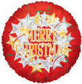 "18"" Merry Christmas Star Wreath Helium Foil Balloon 1ct #89052"