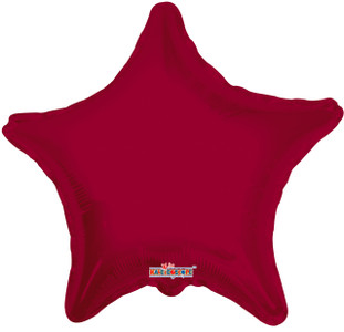 burgundy star balloons mylar burgundy star balloon