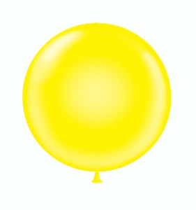 24 inch yellow balloons
