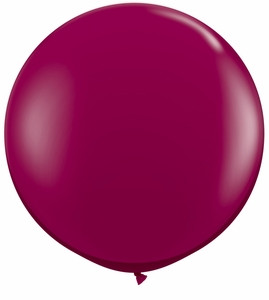 "24"" Jewel Burgundy Transparent  Round Latex Balloon 1ct #24123"