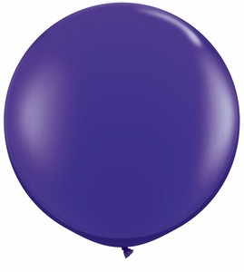"24"" Jewel Purple Transparent Round Latex Balloon 1ct #24173"