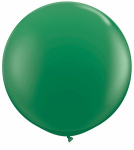 "24"" Emerald Green Transparent Round Latex Balloon 1ct #24153"