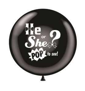 "24"" Gender Reveal Balloon ""POP to See"" 1ct"