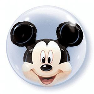 "24"" Mickey Double Bubble Balloon 1ct"