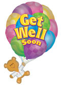 "*Special* 36"" Jumbo Get Well Balloon  1ct #17491"