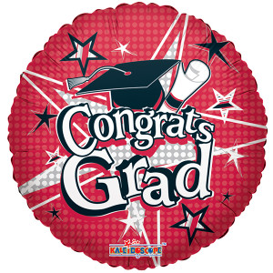 "18"" Red Gongrats Grad Balloons 1ct #85152"