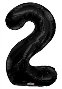 "34"" Large Black # 2 Balloon"