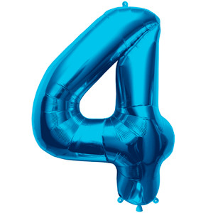 "34"" Blue # 4 Balloon"