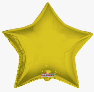 "36"" Gold Foil Star Foil Helium Balloon 1ct #34014"
