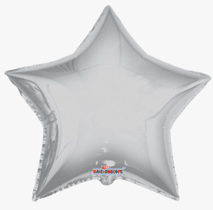 big silver star balloons