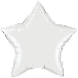 "big white star balloons 36"" white foil star balloons"