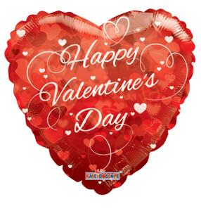 "36"" Jumbo Valentine Heart Clear View Balloon 1ct"