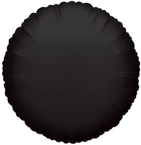 "4"" Black Circle Foil Balloon Air Fill Only 1ct #34070"