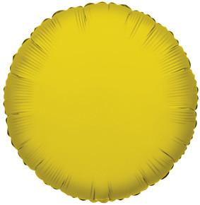 "4"" Gold Circle Foil Balloon Air Fill Only 1ct #34072"