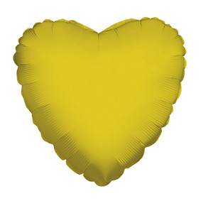 "4"" Gold Heart Foil Balloon Air Fill Only 1ct #34108-04"