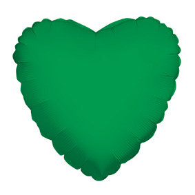 "4"" Green Hearts Foil Balloon Air Fill Only 1ct #34113-04"