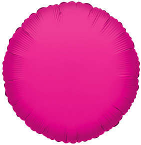 "4"" Hot Pink Foil Balloon Circle Air Fill Only 1ct #34075"