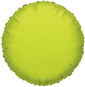 "4"" Lime Circle Foil Balloon Air Fill Only 1ct #34053"