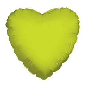 "4"" Lime Heart Foil Balloon Air Fill Only  1ct #34103-04"