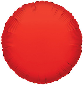 "4"" Red Circle Foil Balloon Air Fill Only 1ct #34071"