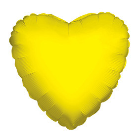 "4"" Yellow Heart Foil Balloon Air Fill Only 1ct #34099-04"