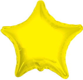 "4"" Yellow Star Foil Air Fill Only Balloon 1ct #34018-04"