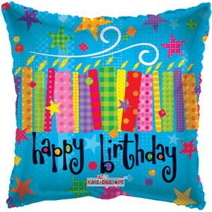 mini birthday stick balloons