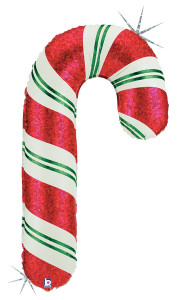 "41"" Candy Cane Foil  Balloon 1ct"