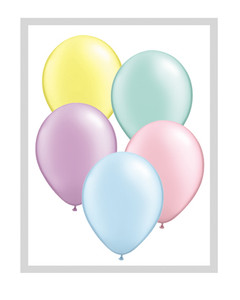 "Special Price 11"" Qualatex Pastel Pearl Assortment Latex Balloons 100ct #43755"