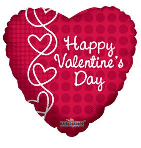 """4"""" Micro Mini Happy Valentine Day Air Fill  1ct #81169-04"""
