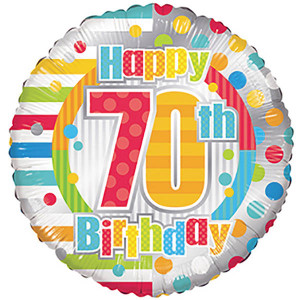 "18"" 70th Birthday Balloons 1ct"