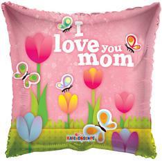 "18"" I love Mom Tulips Balloons 1ct #84138"