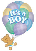 "36"" Jumbo It's A Boy Bear #17492"